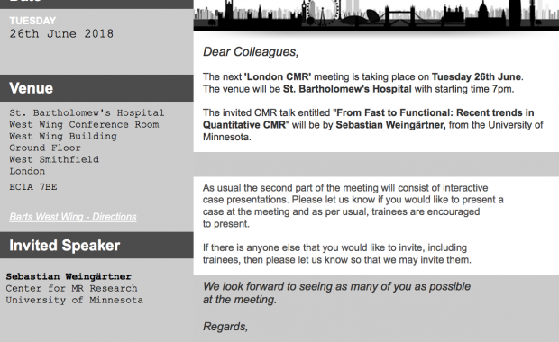 London CMR Meeting