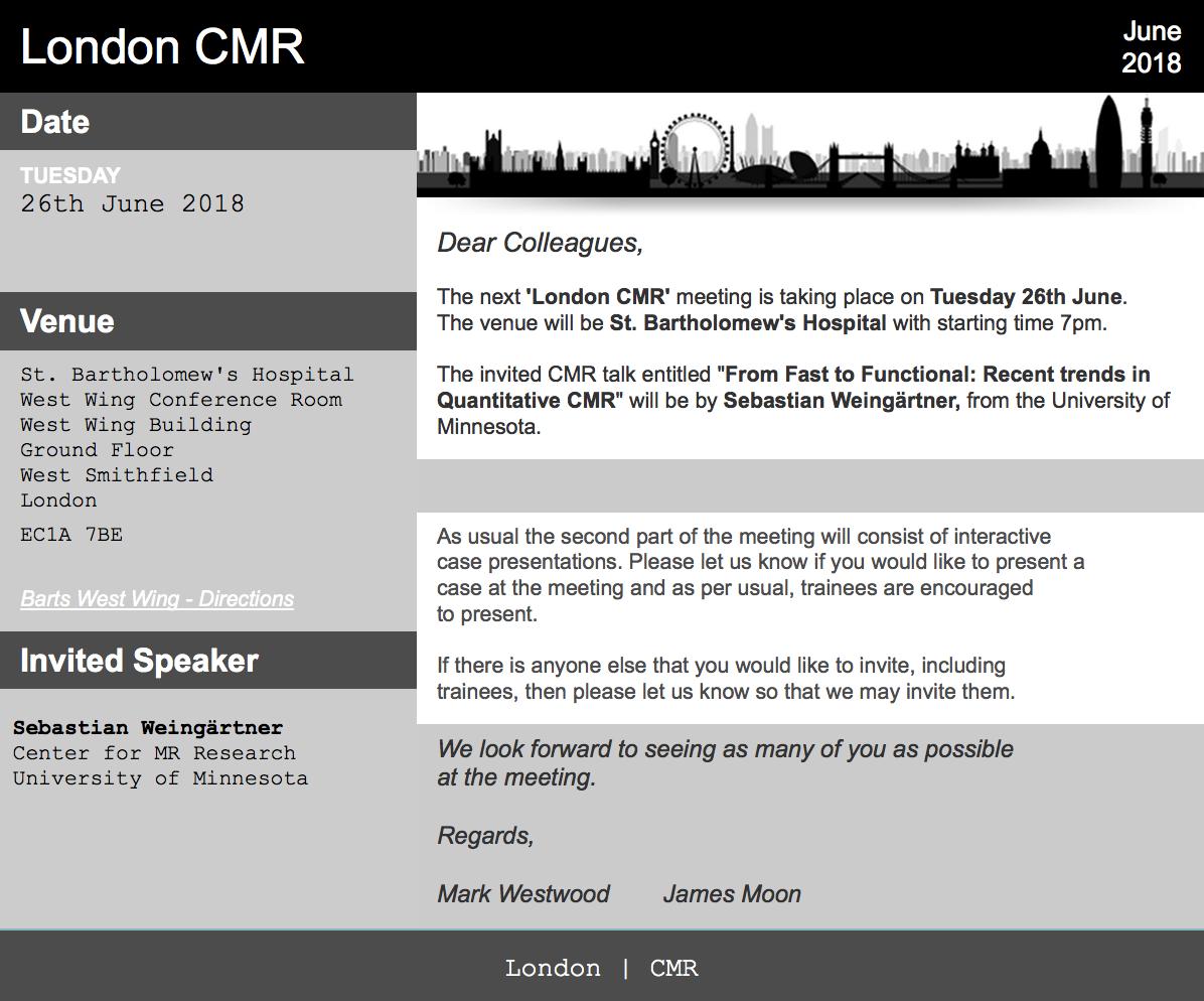London CMR Meeting